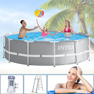 Intex Swimming Pool Ø366x99 Frame Pool Set Prism Rondo Schwimmbecken Schwimmbad