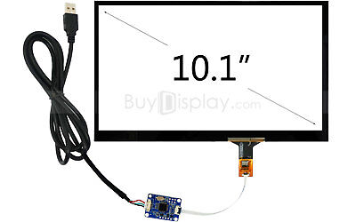 """10.1"""" USB Capacitive Touch Panel Screen+USB Controller Board for Rasperry PI"""