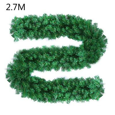 2.7M Xmas Tree Garland Rattan Christmas Decoration Ornaments Home Party Decor K6