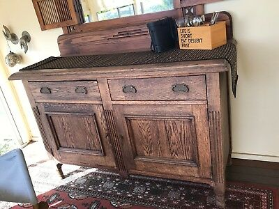 antique oak sideboard, handmade, rustic and solid only selling due to downsizing