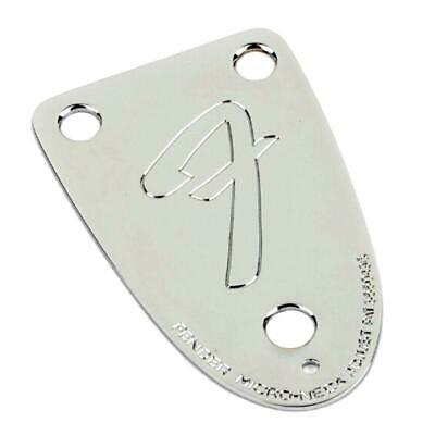 Fender '70s Vintage-Style 3-Bolt F Stamped Bass Neck Plate Chrome 0055259000