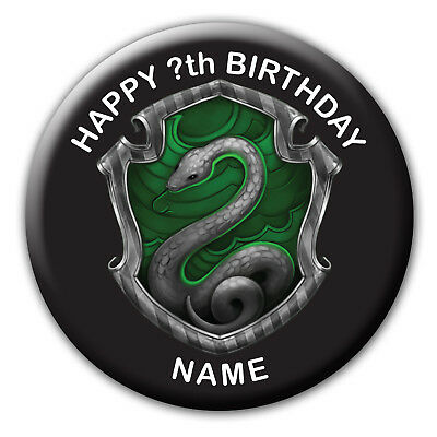 Personalised Harry Potter Slytherin Birthday Badge Magnet (Bb431)