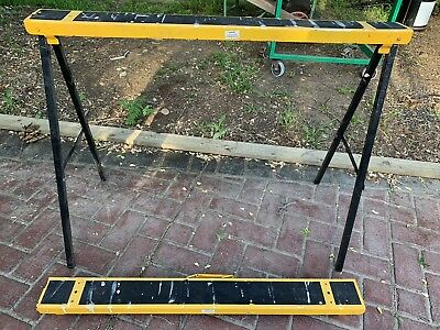 Saw Horse 2pc(Pair)Trestle Steel Foldable Portable Work Bench Stand Support Legs