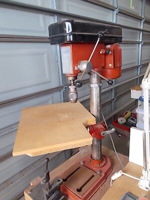 Fisher Discount 12-speed drill press Model CH-16N mounted on a custom made stand