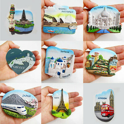 3D Resin Fridge Magnet Tourism Travel Souvenir Memorabilia-Paris/Italy/Greece