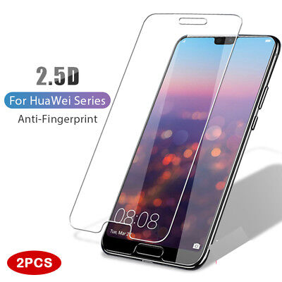 For Huawei P20 Pro Lite 2PCS Tempered Glass Screen Protector Premium Protection