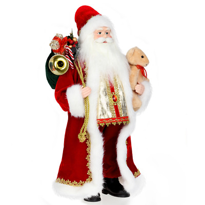 Traditional Father Christmas Santa Claus Figure Xmas Decoration 18Inch Luxury