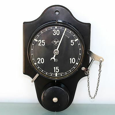 German JUNGHANS CLOCK TIMER Wall AGFA Antique TOP BAKELITE Alarm FULLY RESTORED