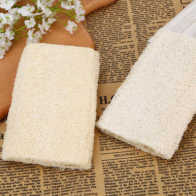 1X natural loofah sponge bath rub exfoliate bath towel clean body exfoliating lc