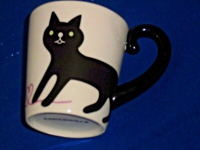 Concombre Cat Tail Mug Cup (Black Cat Gray Kitten)
