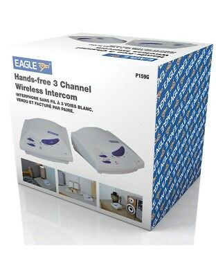 Eagle Hands Free 3 Channel Wireless Intercom P159G Interphone Hands Free NEW