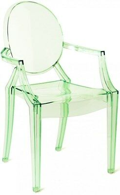 Kartell Genuine Kids Lou Lou Children Chair Small Transparent Peacock Green