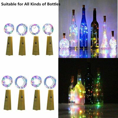 15/ 20LED Cork Copper Wire Fairy String Lights Wine Bottle For Xmas Party Decor