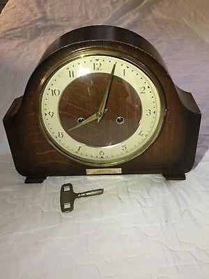 "Vintage Of 1950's ""SMITHS"" British Movement with Two Jewels, Mantel Clock"