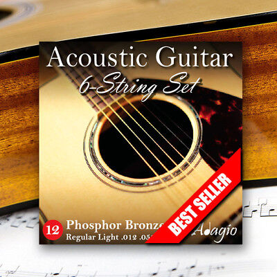 Adagio Pro Acoustic Guitar Strings Gauge 12-52 Phosphor Bronze
