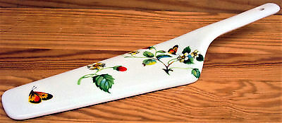 Strawberries & Butterflies Cake Server Fine Bone China Cake Slice Pie Server