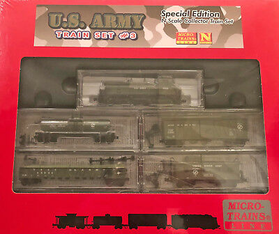 Micro Trains Mtl N Scale Special Edition U.s.army Train Set #3 New & Sealed