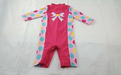 Mothercare Baby Girl Sunsafe Sun Protection Full Swimming Costume Pink 9-12 Mnth