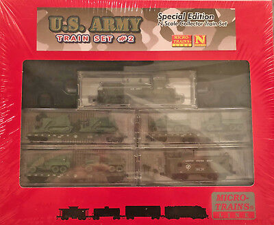 Micro Trains Mtl N Scale Special Edition U.s.army Train Set #2 New & Sealed