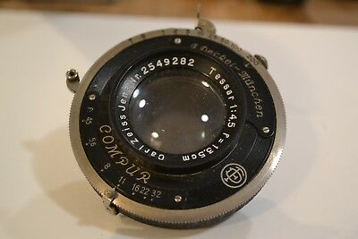 Vintage Compur shutter and Zeiss Lens