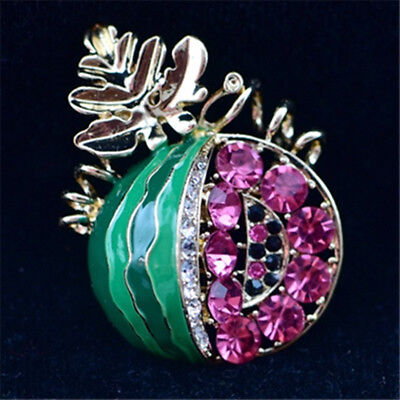 Antique jewelry brooch with crystal enamel and watermelon top grade brooch