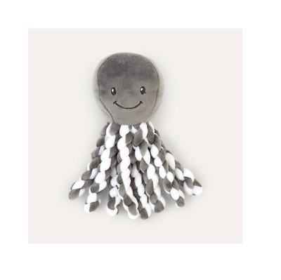 Brand new in pack Nattou Lapidou Piu Piu Octopus Plush Toy in anthracite & white