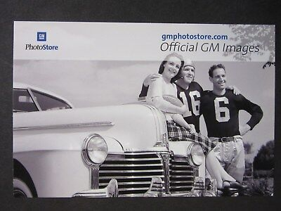 GM Post Card 1941 Pontiac Eight 8 - Perfect - Free Shipping