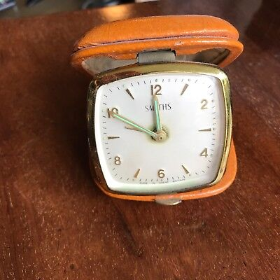 Retro Smiths old-style mechanical wind up travel alarm clock