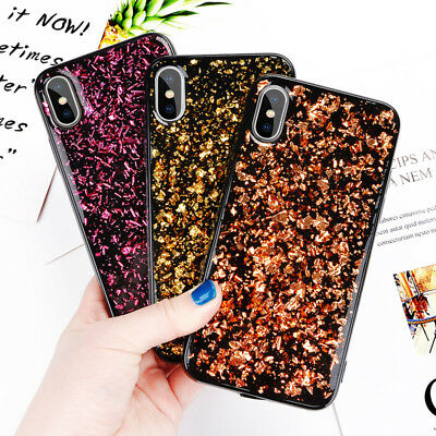 Bling Glitter gold foil Soft Phone Case Cover For iphone XS MAX XR 6 7 8plus