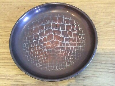"""Vintage Arts and Crafts Circular Tray 9"""" Diameter Available Worldwide"""