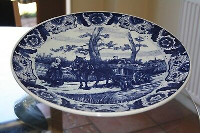 Vintage Delft hand painted wall plaque 39cm excellent condition and quality