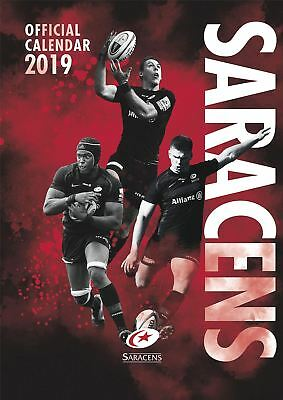 Saracens 2019 Official Calendar A3 Rugby Club Wall Hanging Gift Present