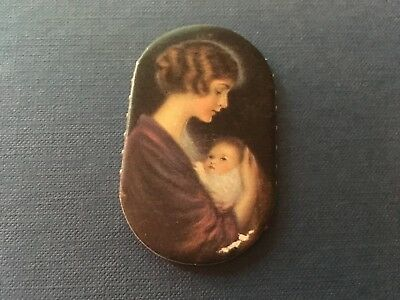 Prudential Insurance Co Pin Case Holder Advertising Premium Sewing Mother Child