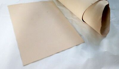 2mm NATURAL VEG TAN FULL GRAIN COWHIDE LEATHER PIECE FOR TOOLING, WET FORM ETC