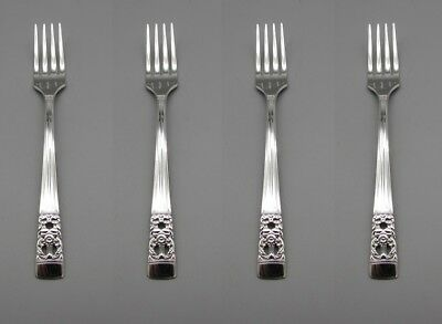 SET OF FOUR - Oneida Silverplate CORONATION Youth / Dessert Forks COMMUNITY