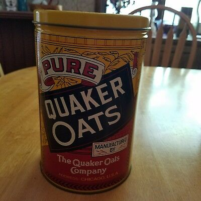 Quaker Oats Tin Limited Edition 1984 Advertising Collectible