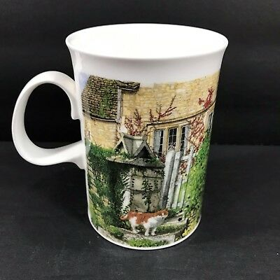 Dunoon Farmyard Cats Richard Partis Coffee Mug Cup Fine Bone China 10 oz
