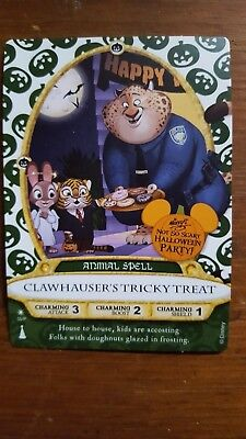 Sorcerers of the Magic Kingdom Clawhauser's Card 2016 Halloween party new!