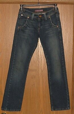 Womens Rare Vintage Levi's 513 Boy Cut Button Fly Faded Jeans Size 1M !! Awesome