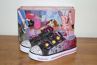 NWB Girl's Youth SKECHERS TWINKLE TOES Expressionsta Light Up Shoes