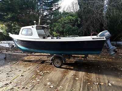 Orkney 19 fishing boat with Yamaha 40hp outboard and Rapide trailer