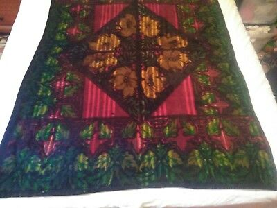 """PRICE LOWERED  """"CHASE"""" Victorian Lap  Sleigh Horse Blanket Floral Design"""