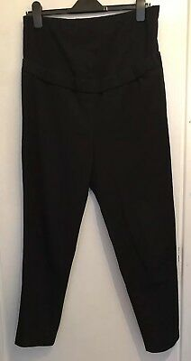 Black Cropped Maternity Trousers M&S Size 12