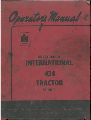 McCormick International Tractor 434 Operators Manual - ORIGINAL