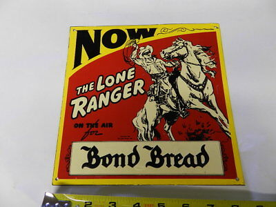 Vintage Advertising Sign- Bond Bread- The Lone Ranger- Vintage Bakery- Excl.