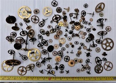 Collection Of Clock Gears For Spares/steam Punk/ Craft