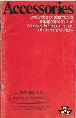 Massey Ferguson Farm Machinery Accessories Catalogue - Tractor Combine Baler +++