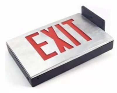 KXTEU1RBA DieCast Aluminum AC Only LED Red Exit Sign