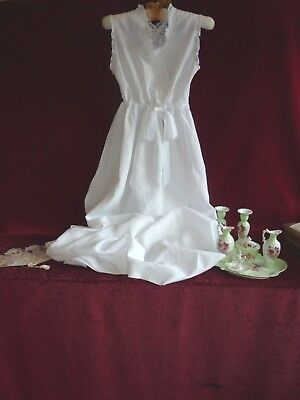 Lovely Antique/Vintage Nightgown Embroidery & Lace GC.