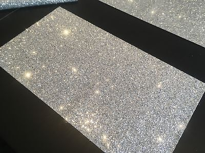 """4 Glitter Fabric Table Placemats for Christmas and Wedding 10"""" x 18""""(250x450mm)"""